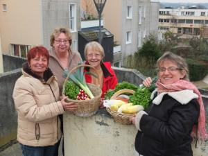 les paniers de legumes de saison au LCR du Ponceau